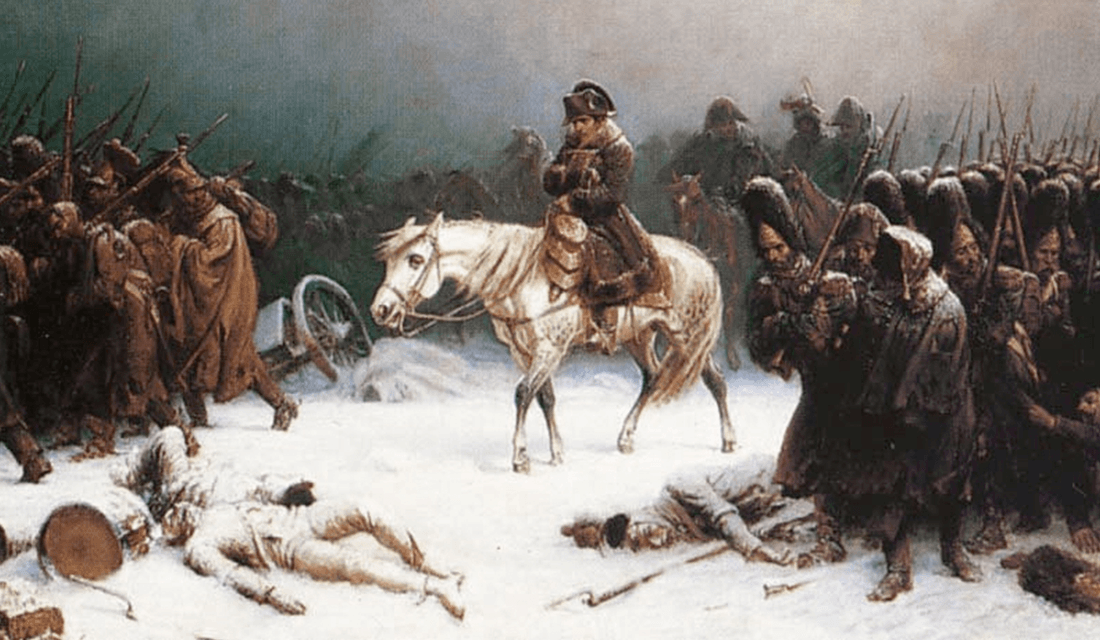 Napoleon's Retreat From Moscow, an oil painting by Adolph Northen (Source: Wikimedia Commons)