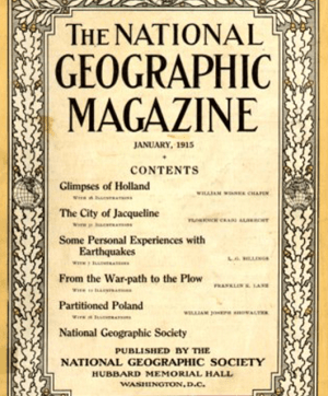 1915 Cover of National Geographic Magazine (Source: Wikimedia Commons)