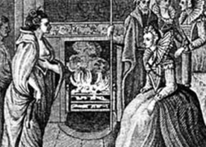 The meeting between Grace O'Malley and Queen Elizabeth I (Source: Wikimedia Commons)