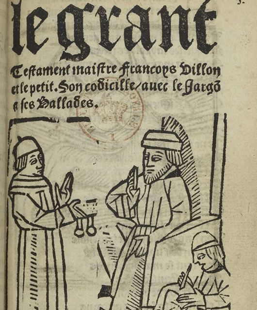 """Le Grant Testament,"" one of the earliest examples of thieves' Cant (Source: Wikimedia Commons)"