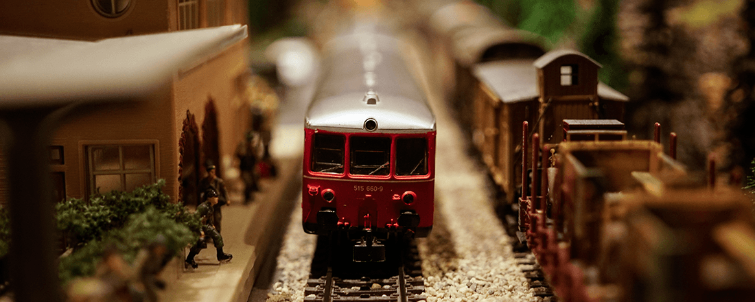 Toy Train at Station