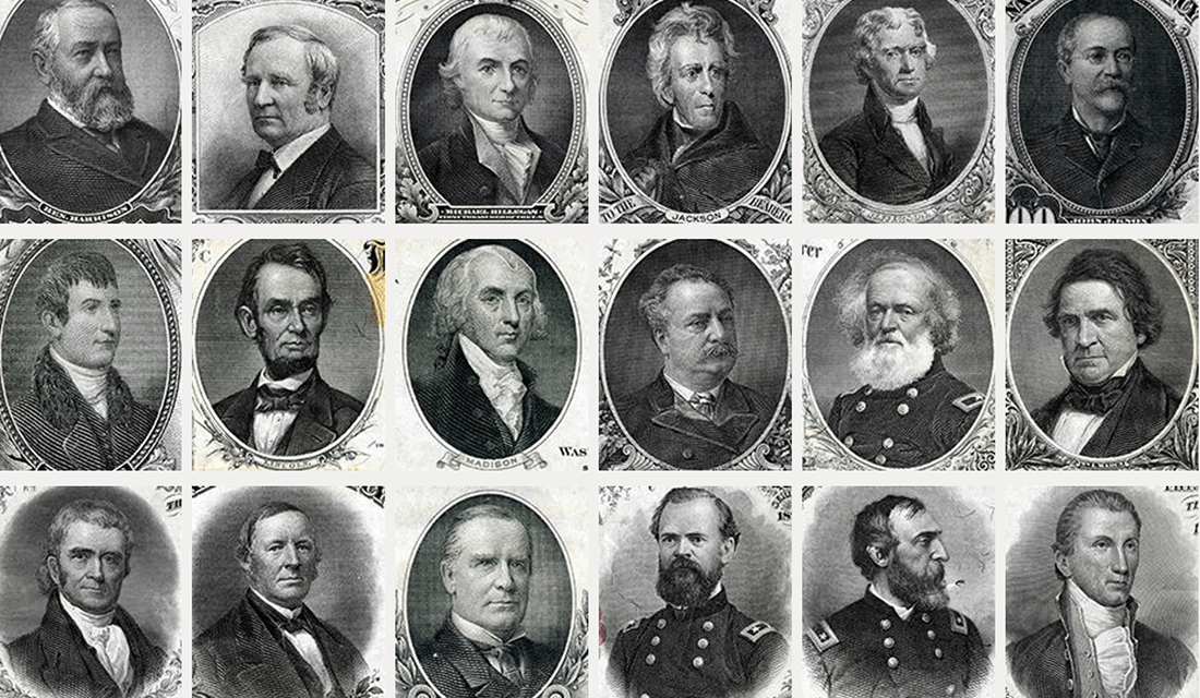 Portraits from U.S. Bank Notes (Source: National Numismatic Collection, Smithsonian Institution)