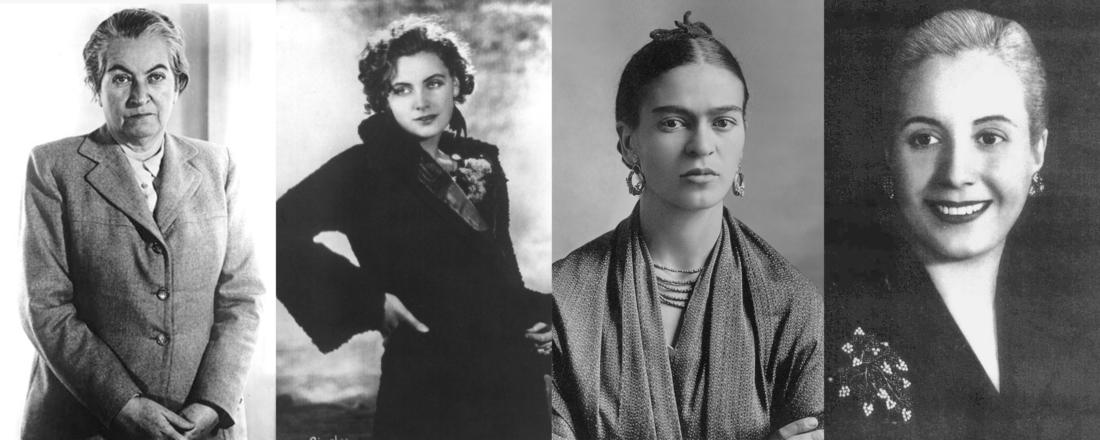 Gabriela Mistral, Greta Garbo, Frida Kahlo, Eva Perón (Source: Various)