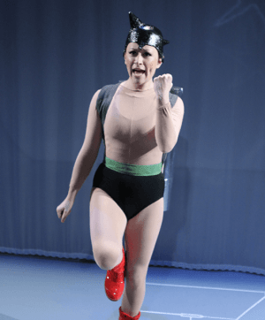 "Karen O'Connell as Astro Boy in Studio Theatre's production of ""Astro Boy and the God Of Comics"" (Source: Carol Pratt/Studio Theatre)"