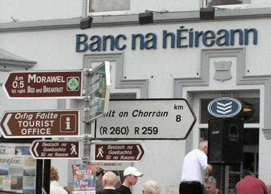 Signs in Irish (Source: Kenneth Allen/Wikimedia Commons)