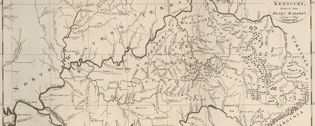 1792 Map of Kentucky (Source: Antique Prints Blog)