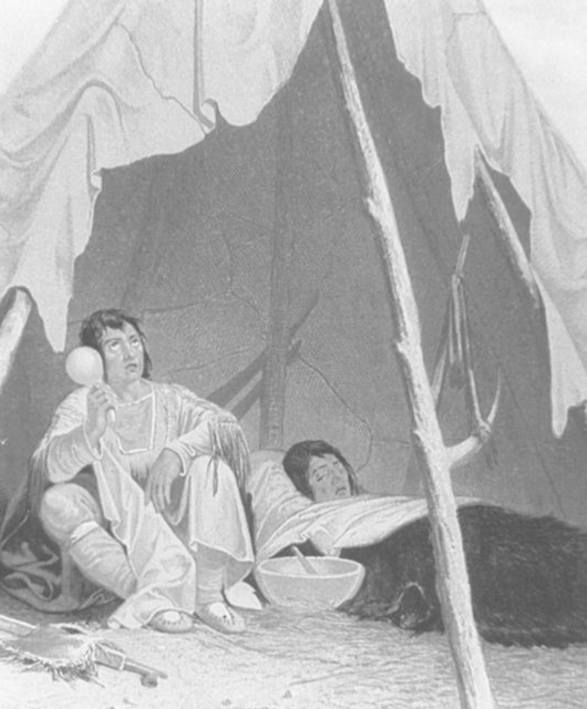 A Sick Native American (Source: National Library of Medicine/Wikimedia Commons)