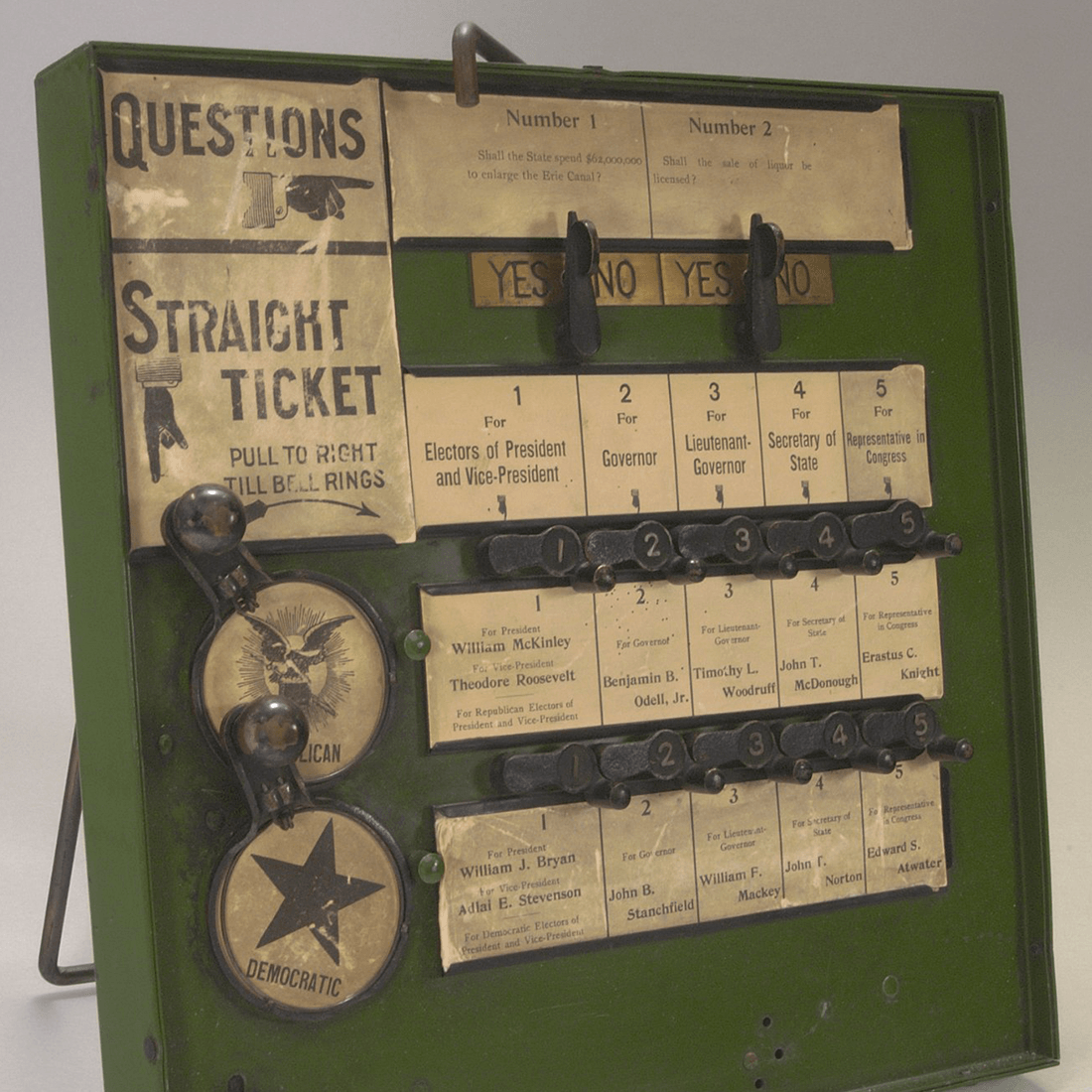 New York State Demonstration Voting Machine, ca. 1900 (Source: Cornell University Library/Flickr)