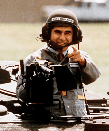 Michael Dukakis' infamous tank photo-op (Source: Politico)