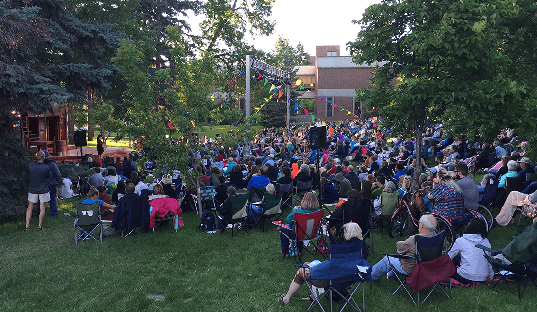 """The audience at a performance for """"Macbeth"""" in Bozeman, Montana (Source: Michael Donnay)"""