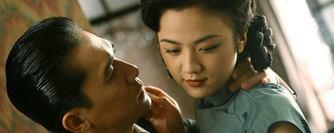 "Tony Leung Chiu-Wai and Tang Wei in Ang Lee's 2007 film, ""Lust, Caution"" (Source: Alphacoders.com)"