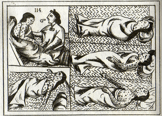 16th-century Aztec drawings of victims of smallpox (Source: Wikipedia)