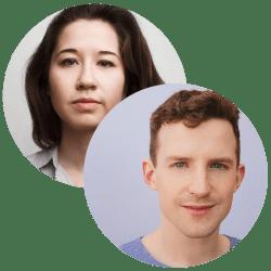 Emma Clark and Hugh Wyld