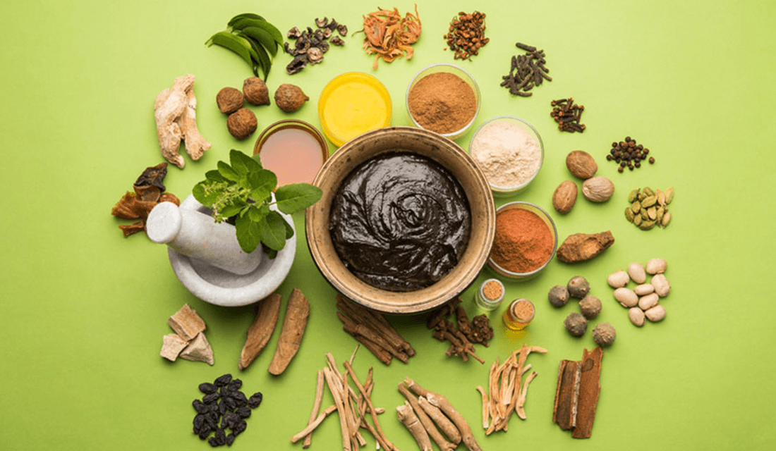 Flat Lay of Ayurveda Spices (Source: Himalaya Wellness)