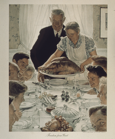 "Norman Rockwell's iconic ""Freedom from Want"" painting (Source: Wikipedia)"