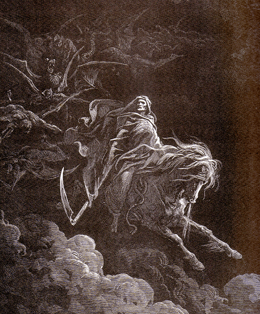 "Gustave Dore's ""Horsemen of Death"" from ""Divine Comedy"" by Dante (Source: Wikimedia Commons)"