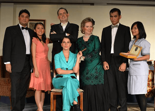 "Cast of Jakarta Players' 2013 production of ""An Inspector Calls"" (Source: Jakarta Players)"