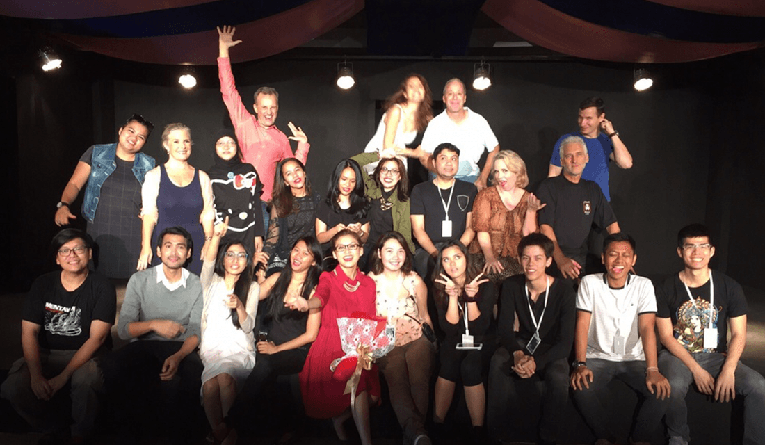 """Cast and crew of """"Naked Mole Rats in the Heart of Darkness"""" (Source: Jakarta Players/Facebook)"""