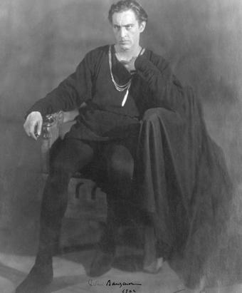 John Barrymore as Hamlet (Source: Wikimedia Commons)