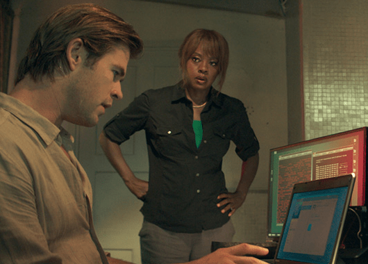 "Chris Hemsworth and Viola Davis in ""Blackhat"" (Source: The Mary Sue)"