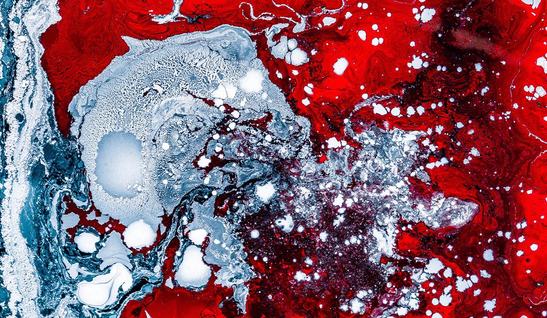 Red White Swirl