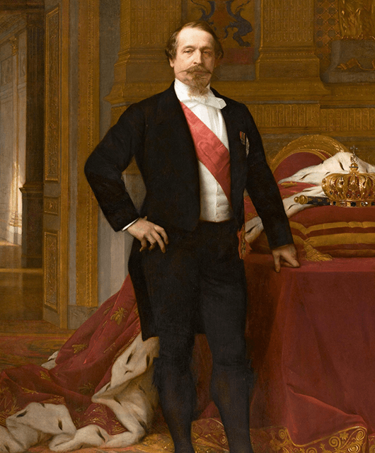 """A c. 1865 oil painting of Louis Napoleon, titled """"Napoleon III"""" by Alexandre Cabanel (Source: Wikimedia Commons)"""