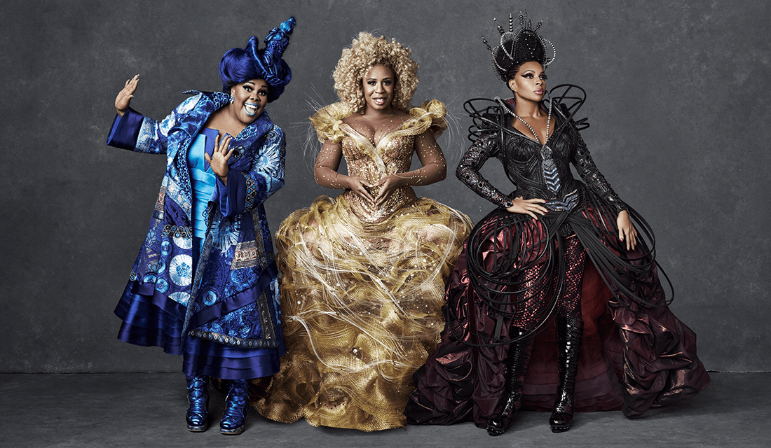 """Amber Riley, Uzo Aduba, and Mary J. Blige as Addepearle, Glinda, and Evillene respectively, from """"The Wiz Live!"""" (Source: Paul Gilmore/NBC)"""