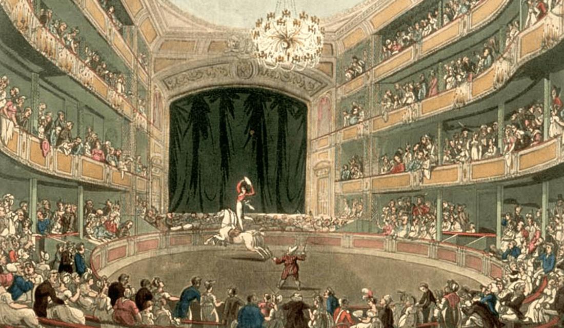 Astley's Amphitheatre in London (Source: Wikipedia)