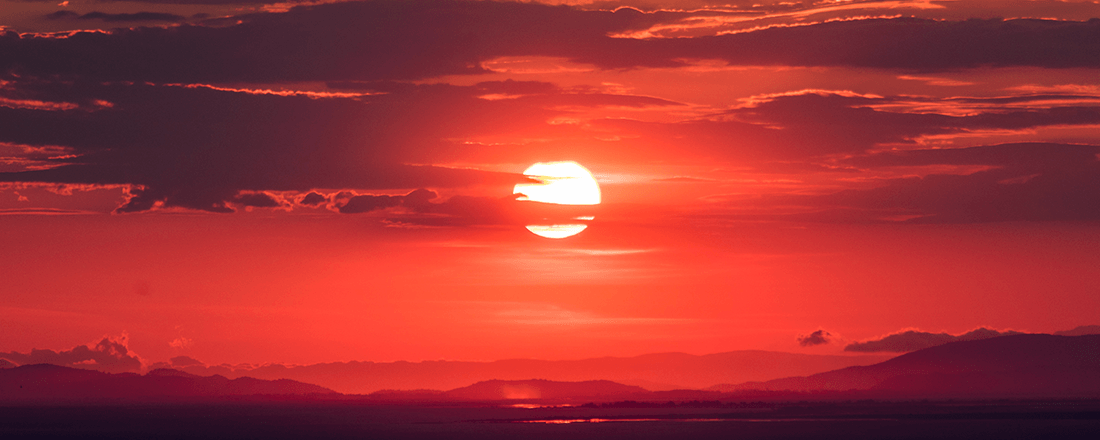 Dramatic Red Sunset