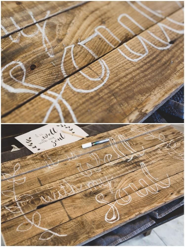DIY Wood Pallet Sign