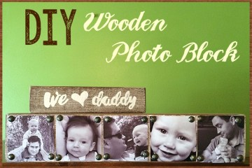 DIY Wooden Photo Block