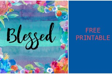 Blessed Watercolor Printable
