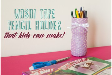 Washi Tape Pencil Holder