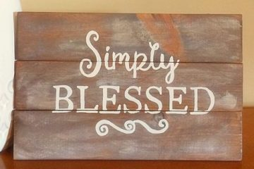 Simply Blessed Wooden Sign diy pallet