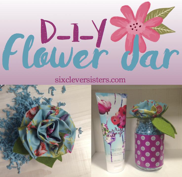 diy flower jar