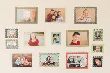 Washi Tape Wall Frames