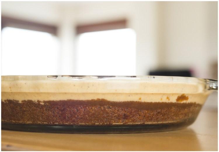 Chocolate Pumpkin Ice Cream Pie