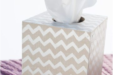Easy DIY Tissue Box Cover #diy#tissuebox #gift #homedecor