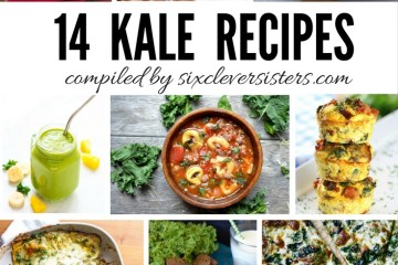 Kale Recipes | Kale Roundup Recipes | Healthy Recipes | Recipes to Try | Six Clever Sisters | Looking to try some new recipes using one of the healthiest vegetables? You're going to LOVE this compilation of kale recipes on Six Clever Sisters blog. Be sure to check it out and tell us what you think was the best!