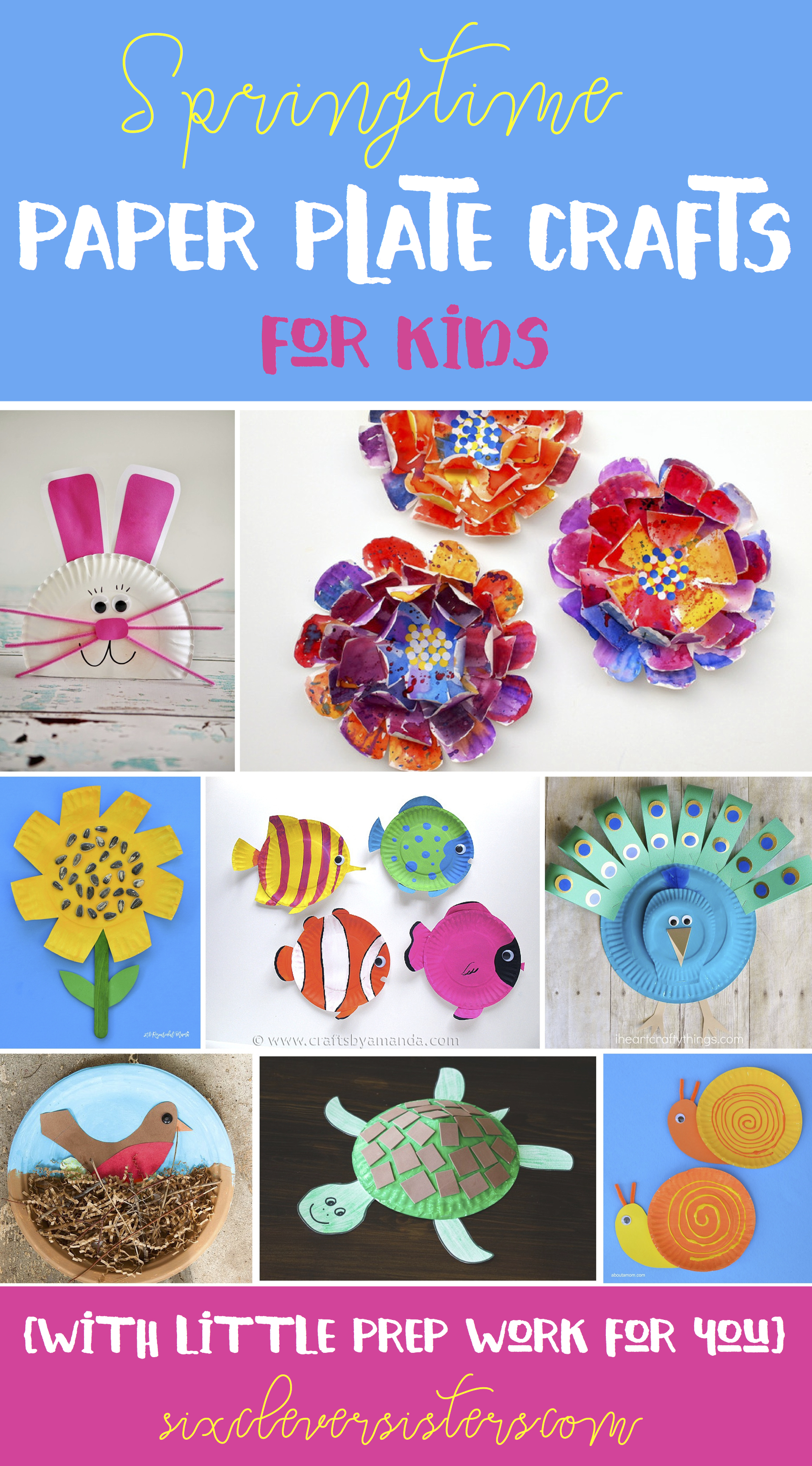 Paper Plate Crafts | Crafts for Kids | Easy Craft Ideas for Kids | Crafts Made  sc 1 st  Six Clever Sisters & Spring Time Paper Plate Crafts for Kids with little prep work for ...