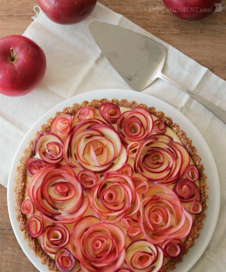 Spring Desserts | Gorgeous Dessert | Beautiful Cake Recipe | Summer Dessert Recipes | Yummy Desserts | Fruit Desserts | Chocolate Desserts | Fancy Elegant Desserts | Impressive Dessert Recipe | Eye Catching | Six Clever Sisters | Mothers Day Ideas | Mothers Day Recipe | Rose Walnut Apple Tart