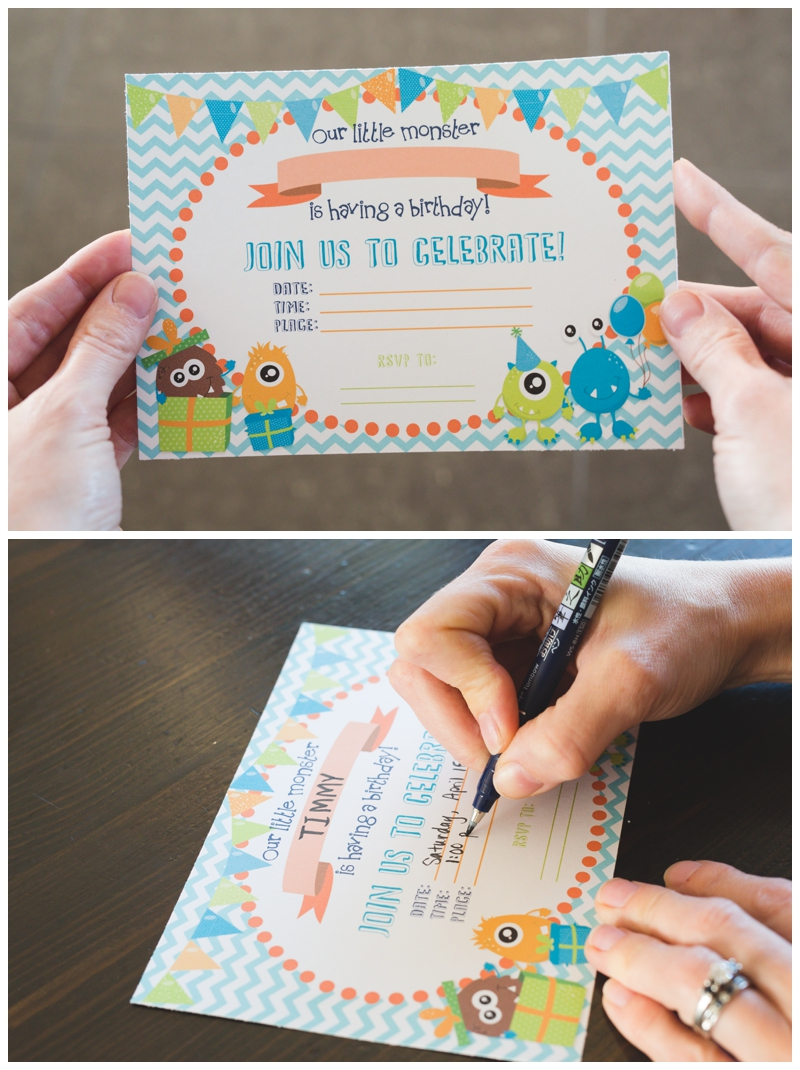 FREE PRINTABLE Monster Birthday Invitations Six Clever Sisters – How to Fill out a Birthday Party Invitation
