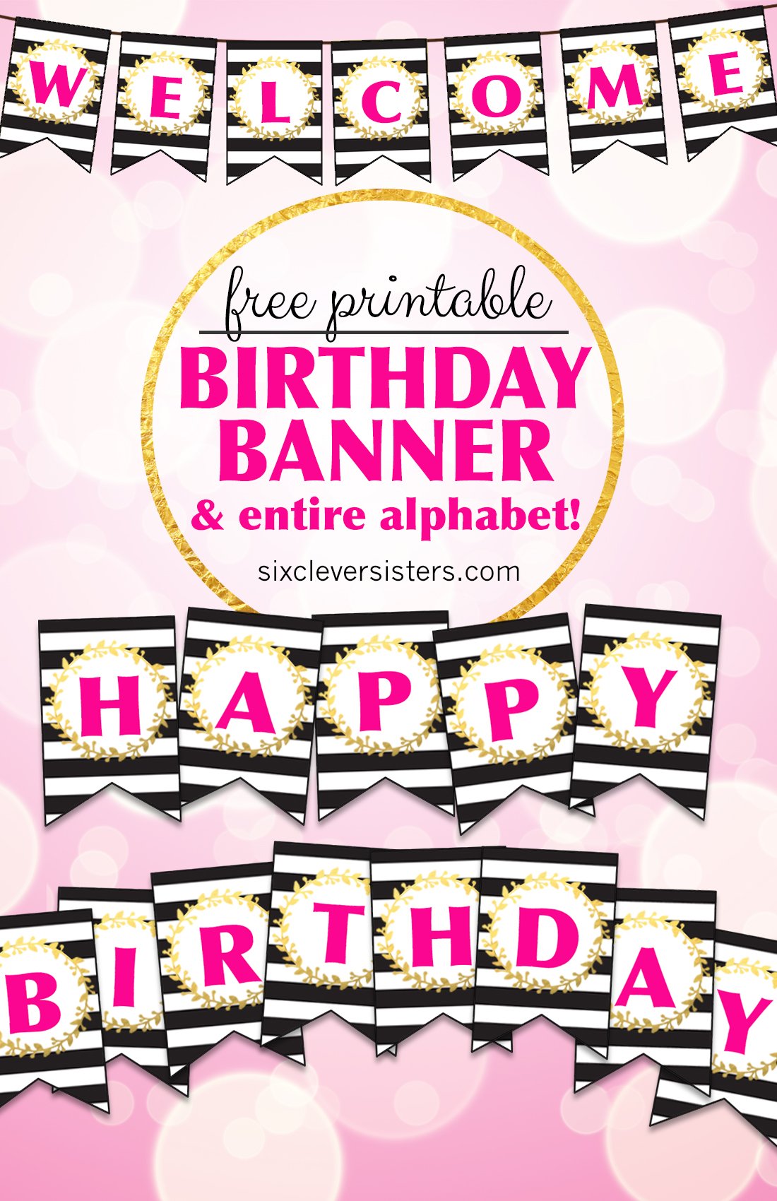 Free_Printable_Happy_Birthday_Banner_01 - Six Clever Sisters