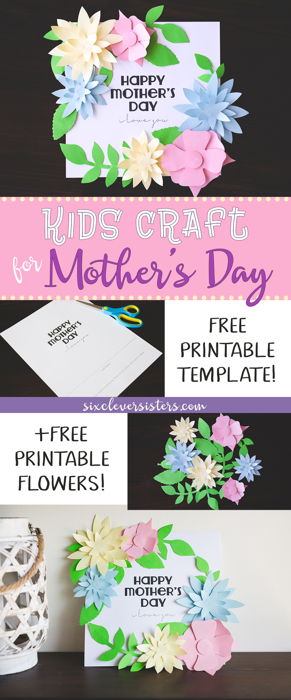 mother 39 s day crafts for kids free printable templates six clever sisters. Black Bedroom Furniture Sets. Home Design Ideas