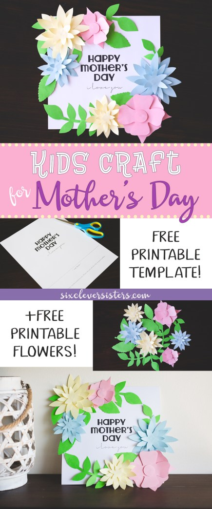 Mothers Day Crafts for Kids | Mothers Day Kids Craft | Printable Kids Craft | Free Printable | Directions and free printable template for this fun Paper Plate Turtle Craft available on the Six Clever Sisters blog!