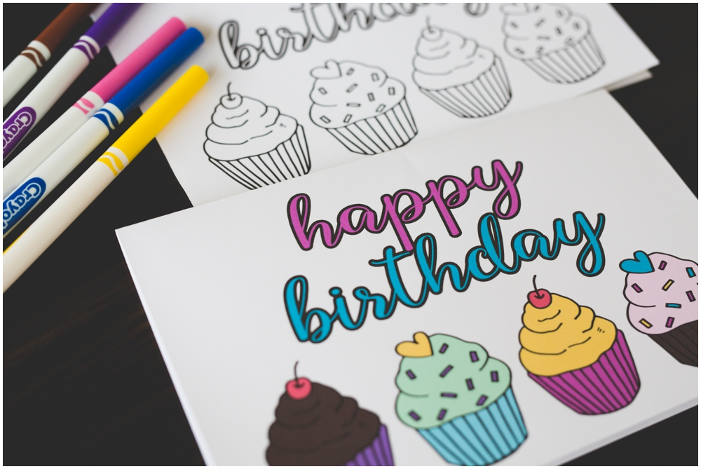 Free Printable | Free Birthday Card | Free Printable Coloring Card | Birthday Card | Happy Birthday Card | Birthday Coloring | Print out this Happy Birthday Card and wish someone a very special birthday!