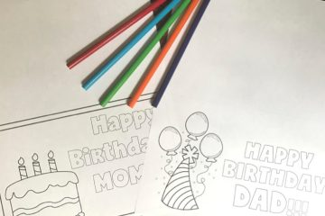 Free Printable Birthday Card | Mom Birthday | Dad Birthday | Birthday Card | Printable | Party | Kid Fun | Coloring | Card to Color | Birthday Card to Color | Birthday | Coloring Page | Happy Birthday | Print these cards for free on Six Clever Sisters!