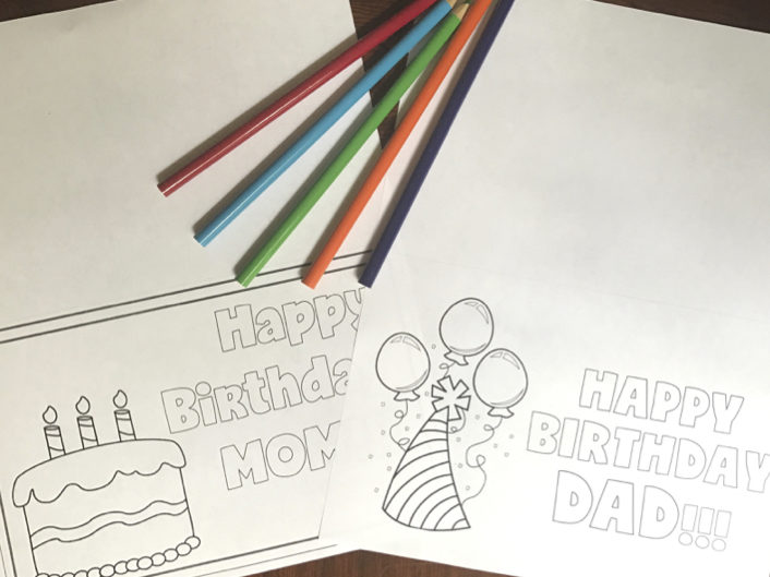 Free Printable Birthday Card Blog Image Six Clever Sisters
