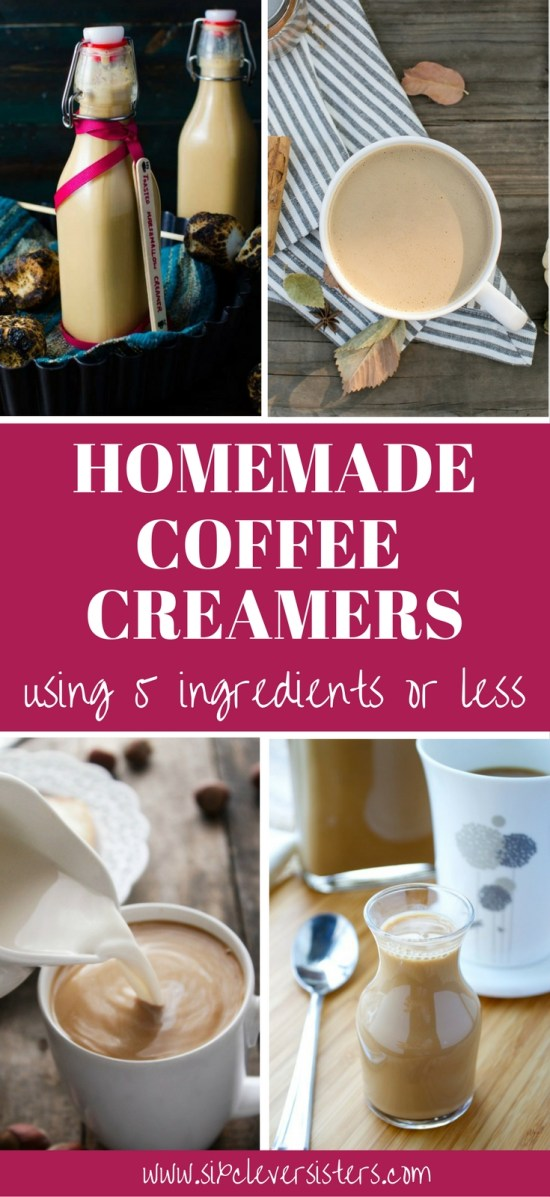 Coffee Creamer Homemade   Coffee Creamer Recipe   Homemade Coffee Creamer   Homemade Coffee Drinks   Homemade Coffee Creamer Recipe   Drinks   Drink Recipe   Coffee Recipe   Coffee Recipe at Home   DIY Coffee Creamer   Fun Drinks   Hot Drinks For Winter   Try these homemade coffee creamers for a nice winter warm-up! Full list on Six Clever Sisters.