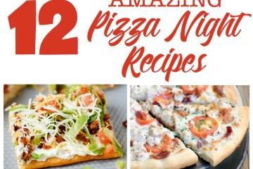 Amazing Pizza Night Recipes | pizza | recipe | family pizza night | pizza recipes | pizza dough | pizza night ideas | pizza night party | pizza recipes easy | pizza recipes homemade | pizza recipes healthy | taco pizza | garlic ranch pizza | pretzel crust | Check out these 12 amazing pizza recipes at sixcleversisters.com!
